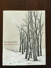 "1961 ""The Wood Pile"" Robert Frost Christmas card Unsigned"