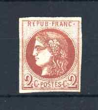 """FRANCE STAMP TIMBRE 40 B """" CERES BORDEAUX 2c BRUN-ROUGE """" NEUF xx TB SIGNE  R120"""