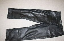 Men Leather Trousers Size 34