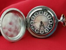 "Original vintage Soviet pocket watch "" Molnija"". Made in the USSR."