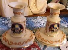 2 Lenox Disney Candleholders-Retired- Mickey & Minie -Daisy&Donald