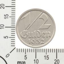 Selten: 1/2 Gulden Danzig 1932