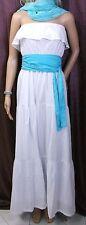 Conleys Bandeaukleid Sommerkleid Maxikleid Strandkleid Kleid Gr. 40 Weiß Türkis