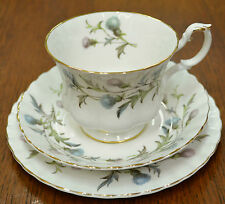 Royal Albert Brigadoon Trio; cup, saucer, plate, Rare Reverse Backstamped Saucer