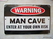 MAN CAVE Sign Garage Basement Game Room METAL NEW GIFT