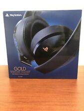 NEW Sony - Playstation 500 Million Limited Edition Gold 7.1 Wireless Headset PS4