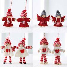 2Pcs Christmas Angel Couple Doll Pendant Xmas Tree Hanging Decor Party Ornaments