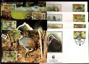 /// NIUAFO'OU 1992 - 4 FDC+MC - WWF - BIRDS