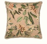 FLORAL BOTANICAL FLOWERS PASTEL PINK FRINGED CONTINENTAL PILLOWCASE