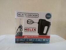 Black+Decker  Helix Performance  Black/Silver  5 speed Hand  Mixer
