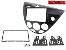 Connects2 Ford Focus Mk1 1998-2005 BLACK Double Din Stereo Facia Adapter