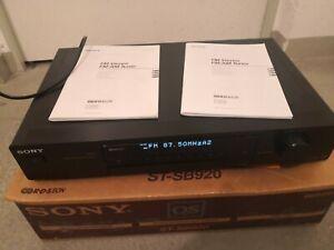 Sony ST-SB 920 QS Stereo Tuner Original Karton und Bedienungsanleitung
