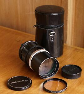 Minolta MC Tele Rokkor PF 135mm F2.8 Lens excellent condition- w/ Hood & Case