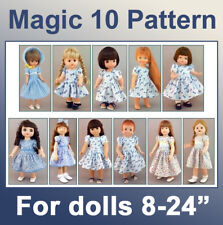 MAGIC Pattern 10 Dresses AND Panties - 10 DOLL SIZES Vintage Inspired! Exclusive