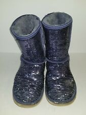 UGG Australia Classic Short Sequin Blue Boots 3161 Women's Size 9 Medium