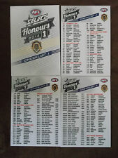 2014  SELECT HONOURS  AFL  CARDS  CHECKLIST  SET  (4)