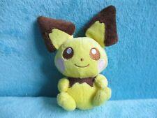 """ORIGINAL 2010 Nintendo Pokemon Centre - PICHU CANVAS Small Soft Plush Toy 5"""""""