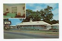 Postcard - Sandman Motel Perry GA 1960s with Interior view
