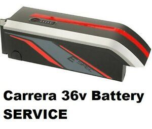 CARRERA Electric Bike Battery Service 9ah   14ah  Free New Fan cooled Charger