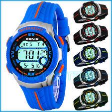 Unisex XONIX wrist-watch, 8x alarm, world time, chrono, water resistant 100m