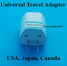 Universal Travel UK USA EURO AUS to USA Japan Canada AC Power Plug Adapter