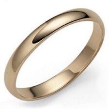 SOLID 10K YELLOW GOLD MENS WEDDING BANDS RINGS UNISEX DOME SHINY 4MM