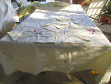 LGE MACHINE EMBROIDERED RECTANGULAR TABLECCLOTH + 8 MATCHING SERVIETTES