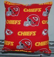 Kansas City Chiefs Pillow NFL KC Pillow HANDMADE In USA Toddler ,Travel , NEW