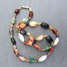 Vintage Scottish agate necklace. Amethyst aventurine Carnelian gemstones. Irish