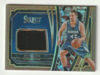 2019-20 Panini Select Jersey Patch Kevin Love Minnesota Timberwolves /49 Copper