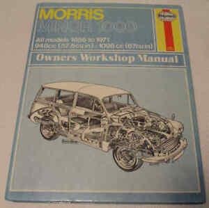 Morris Minor 1000 All models 1956 to 1971 Haynes Workshop Manual No.024