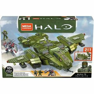 Mega Construx Pro Halo Infinite Vehicle Pelican Inbound 2024 Pieces