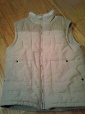 Gymboree Boys Quilted Outdoor Vest- Beige- M(7/8)