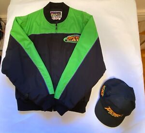 Vintage ARCTIC CAT ArcticWear Snowmobile Jacket Thinsulate L Artic AND CAP