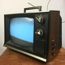 Vintage Mid Century Wood Grain Sears TV Television Small Decor Retro Atomic Soli