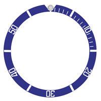 BEZEL INSERT ALUMINUM FOR TUDOR SUBMARINER 7928 7922 7016 7016/0 7021/0 BLUE