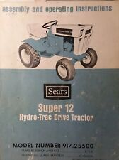 Sears Suburban Super SS/12 Hydro-Trac 917.25500 Lawn Garden Tractor Owner Manual