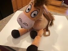 "Disney Store Pixar Toy Story 4 BULLSEYE 16"" Horse on Hoofs Plush EUC"