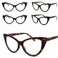 5af031a9ea5 Cat Eye Clear Lens Glasses Rockabilly Oversize Ladies Pinup Glasses 80 s  Womens