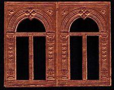 ARCHWAY DOOR WINDOW PAPER EMBOSSED DRESDEN PUTZ DIORAMA COPPER GERMANY DOLL