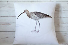 "Curlew - 16"" cushion cover coastal/nautical/beach shabby vintage chic gift"