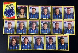 LOTTO DI 17 FIGURINE CALCIATORI MERLIN 94 1993-94 TEAM ATALANTA