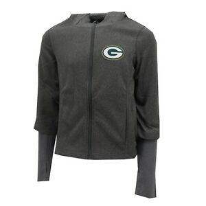Green Bay Packers NFL Kids Youth Girls Size Full Zip Up Hooded Sweatshirt New