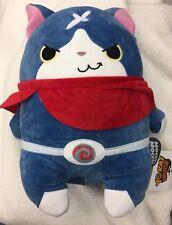"Yokai Yo-kai Youkai Watch Jibanyan Kuttari Stuffed Plush 15"" Bandai Japan Blue"