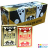 12 Jeux copag Texas Hold'em 100% Plastique Géant Indice Poker Cartes 6 Noir 6