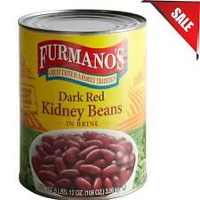 (Case of 6) #10 Bulk Can Dark Red Kidney Beans Supply Brine Gluten Free
