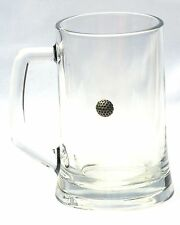 Golf Ball Motif  Beer Glass 1 Pint Stein Tankard Gift Present FREE UK POSTAGE