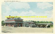 New York & Long Branch Spring Lake NJ station 8½x11 PC repro