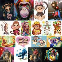 5D DIY Full Drill Diamond Painting Monkey Embroidery Cross Craft Decor Kit Art