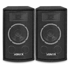 "Pair of Vonyx 6"" Passive 2-Way DJ PA Speakers House Party Disco Setup 250W"